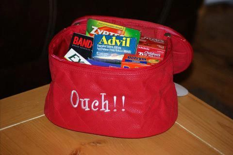 Initials Inc Train Case for an ouchies bag!  Neat idea! | Initials, inc.