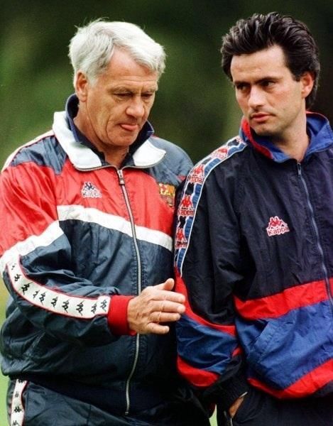 Bobby Robson with Jose Mourinho at FC Barcelona