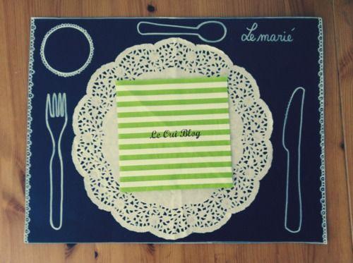 le Oui Blog - DIY: Set de table combo marque-ta-place (DIY: Set de table combo marque-ta-place)