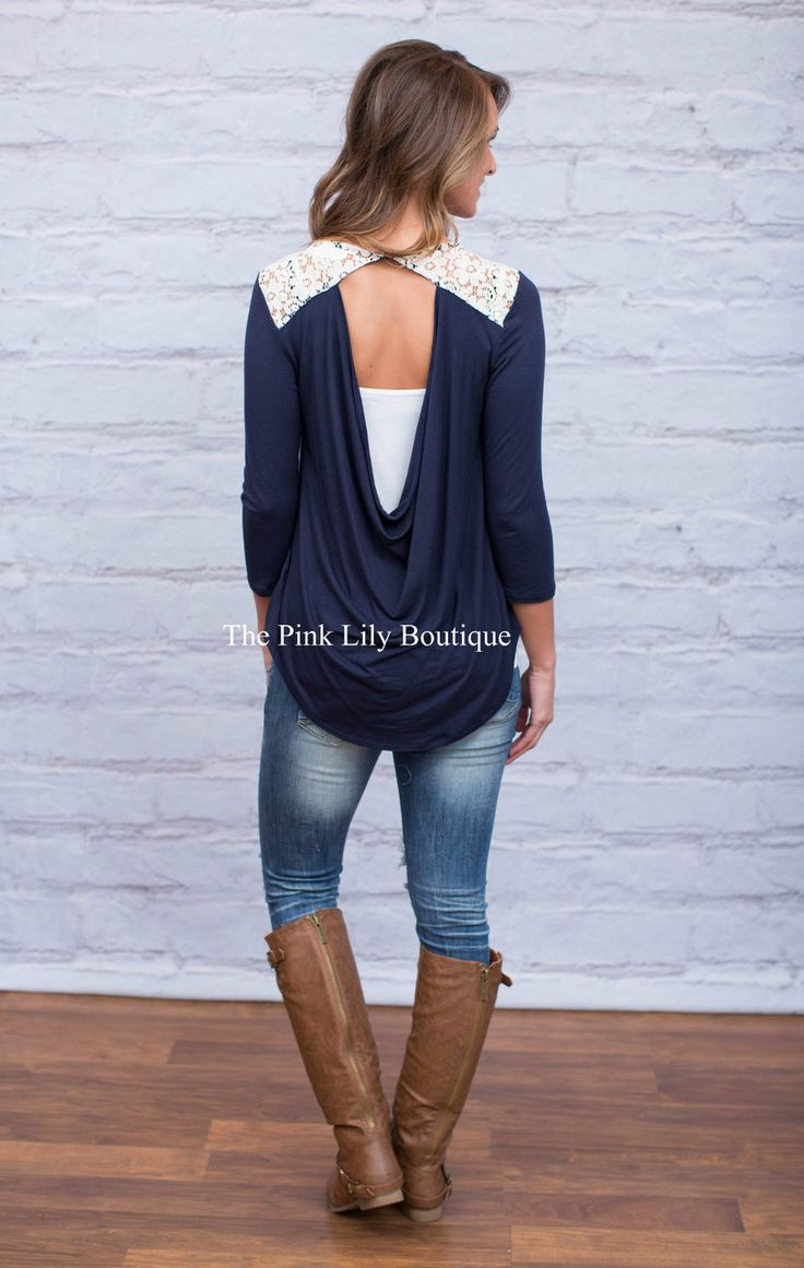 I'll Be There Lace Blouse - The Pink Lily Boutique