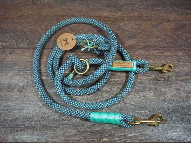 Hund: Leinen - Sonstige - Hundeleine Tauleine BLAU 12mm - ein Designerstück von WESERLAND-Leinen bei DaWanda