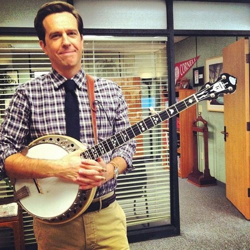 Ed Helms playing the Banjo... this could cure his hangover
