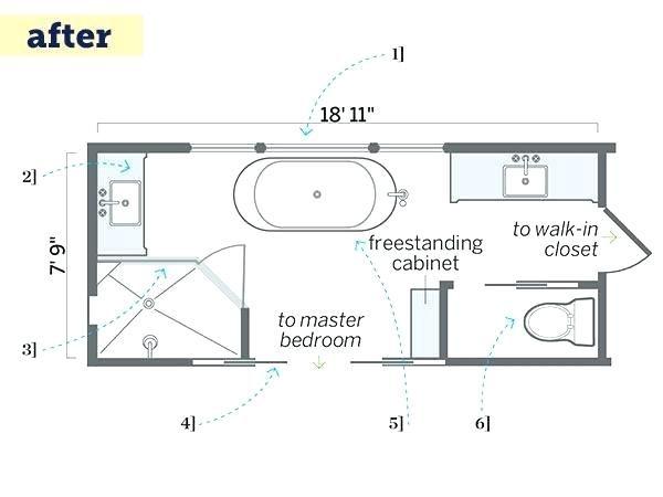 Narrow Bathroom Floor Plans Bathroom Floor Plans Long Narrow