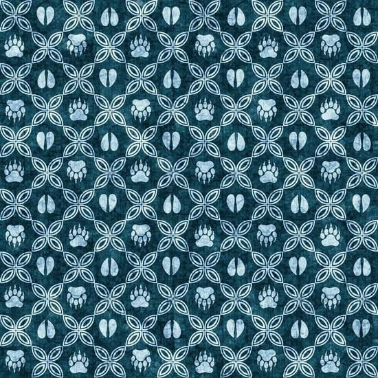 Dan Morris Woodland Spirit Dark Blue/Navy Mini Grid Cotton