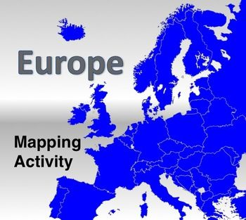 Map Activity - Europe - In this activity, students must locate and identify the countries (and capital cities if so desired) of Europe. When students are finished with this, time may be spent coloring in the various countries.    Included in this package is a ready-to-copy blackline master map of Europe along with a separate answer key. $