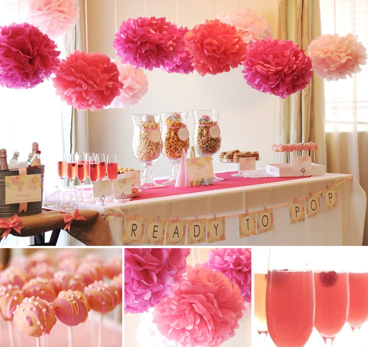 """Ready To Pop Baby Sprinkle - love the addition of popcorn and champagne to make it really """"pop!"""""""