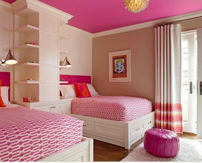 recamara diseño rosa ideal para niñas