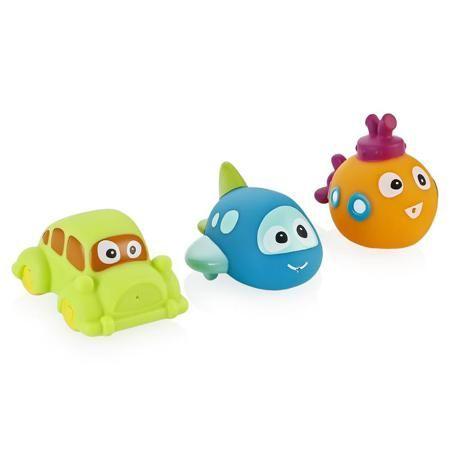 Игрушки для купания BabyOno Тrio  — 790р. ---------------------- Игрушки для купания BabyOno Тrio - красочные компаньоны малыша в веселых водных процедурах. Три красочные игрушки абсолютно безопасны для маленького исследователя, их привлекательный яркий дизайн способствует развитию цветового восприятия, а рельефная форма удобная для захвата детскими ручками и крохотными пальчиками. Но самое главное «волшебство» ждет владельца при активной игре с игрушками: достаточно наполнить их водой…