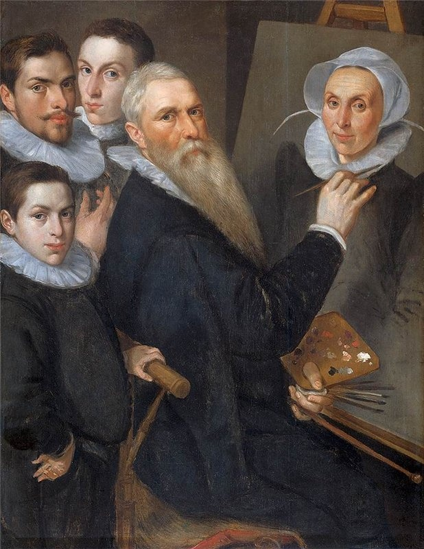 Jacob Willemsz Delff (The Older), Self-Portrait with family, 1590