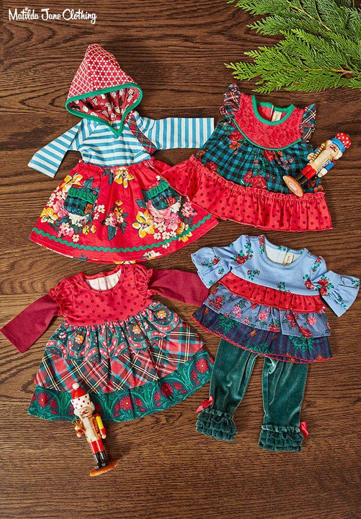 "Matilda Jane Doll Clothes Matches Feeling Festive Tunic Tinsel Leggings Fits 18"""
