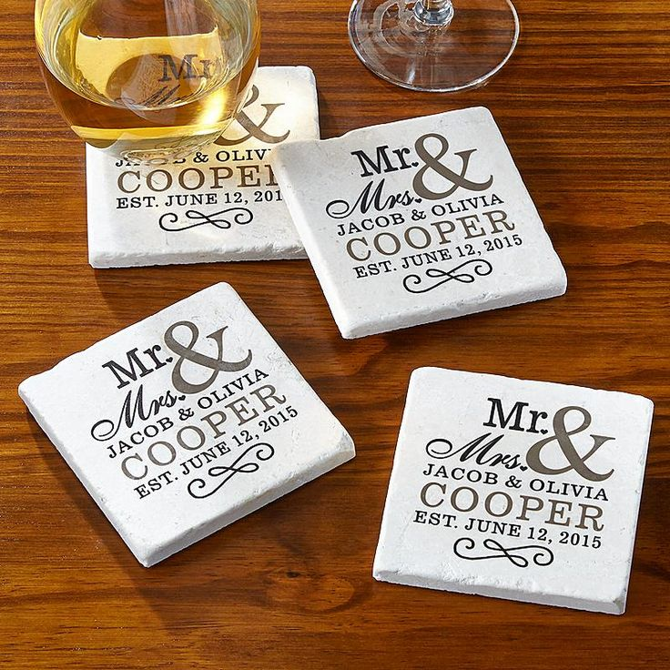 happy couple tile coasters