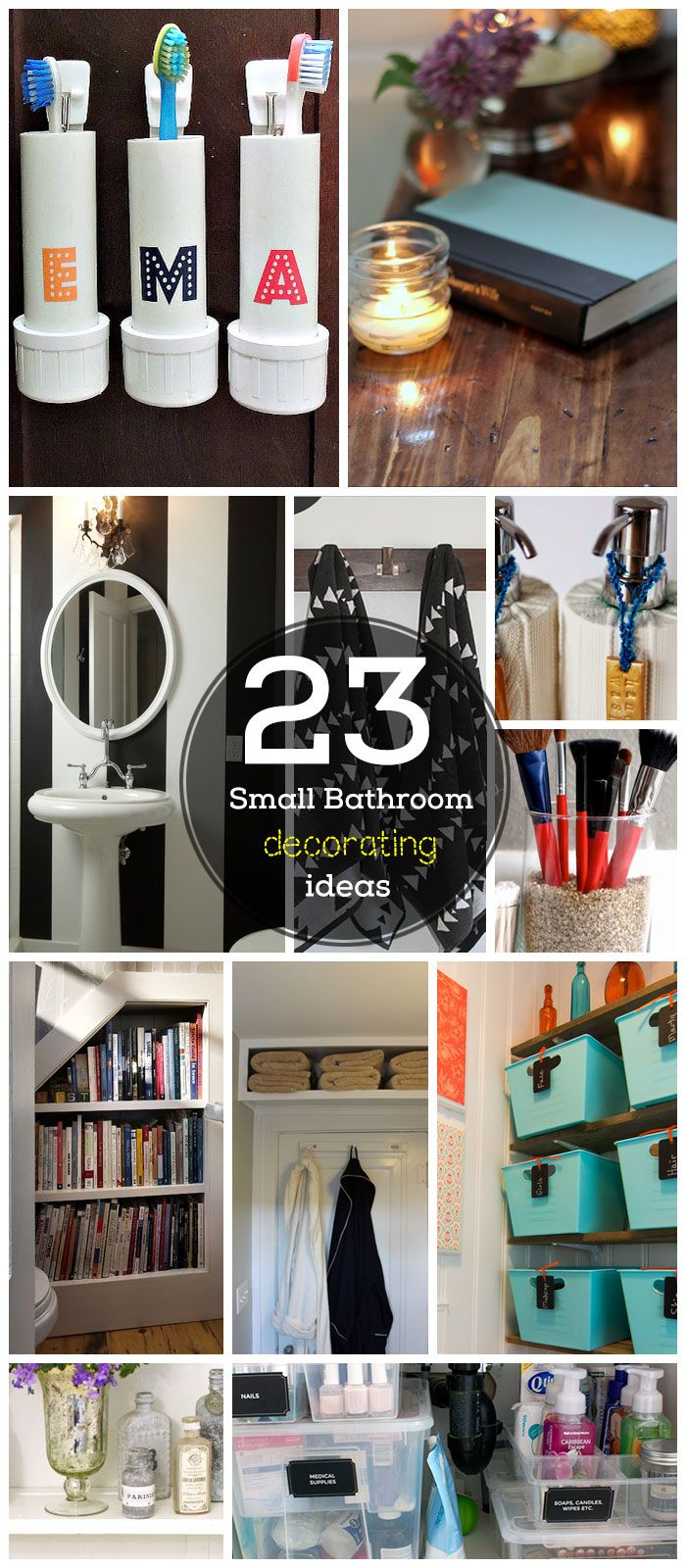 23 Small Bathroom Decorating Ideas on a Budget. I'm Addicted To Containers!
