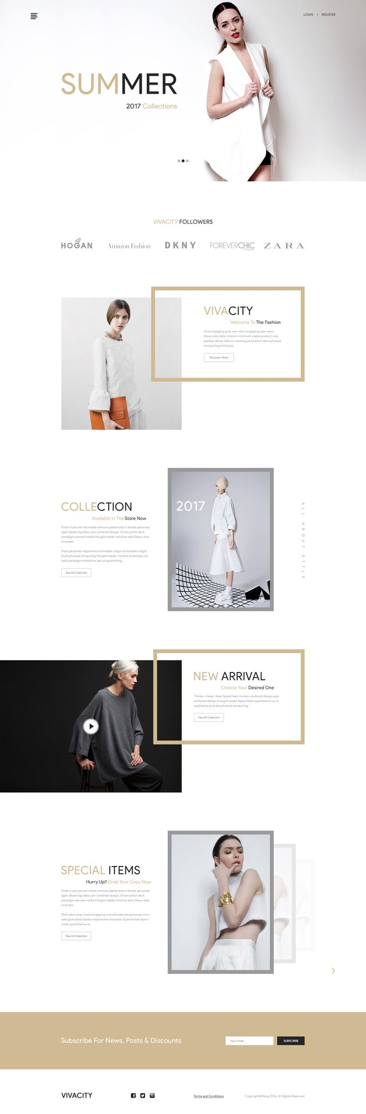"""VIVACITY"" E-commerce Template"