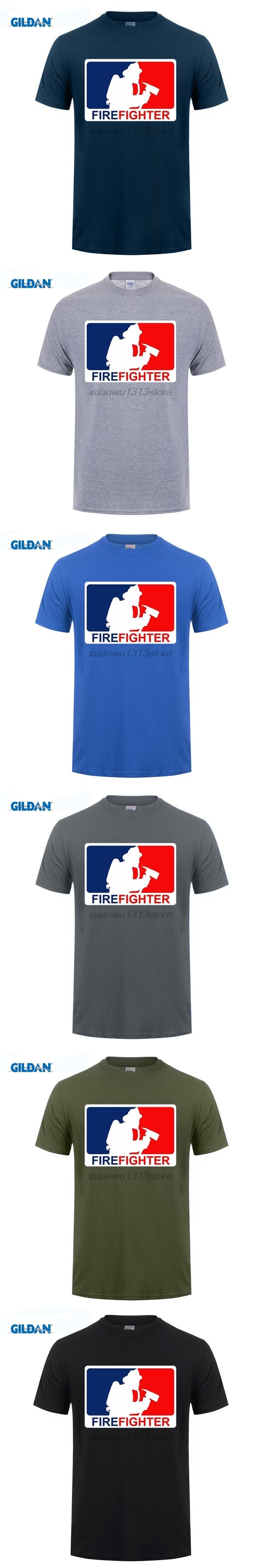 GILDAN O-Neck Tees Firefighter Funny Men Short Sleeve Shirt New Design Adult T Shirt For Men Fashion