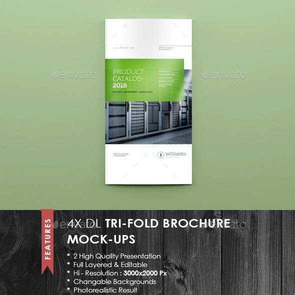 4xdl Double Gate Fold Brochure Mock Up Di 2021