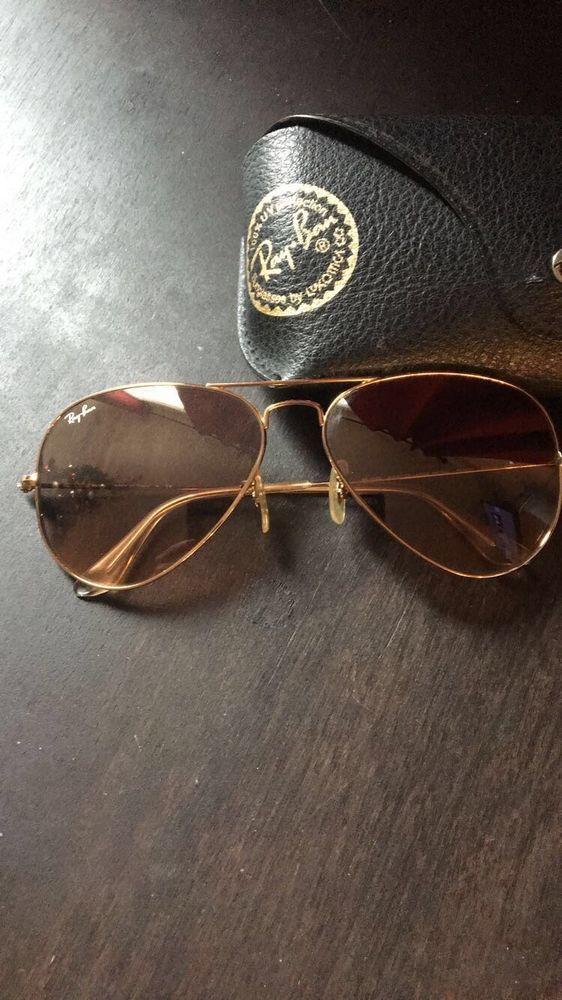 ray ban aviator gold frame pink lens