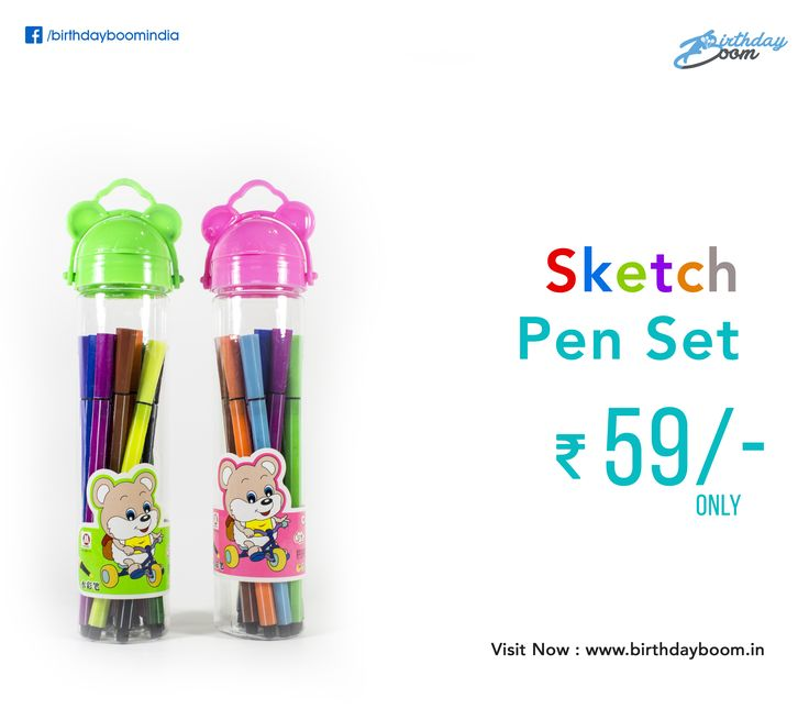 Buy Color Sketch Pen Set @59/- Only. Best Birthday Return Gifts at low price.  Get it Here : www.birthdayboom.in/product/color-sketch-pen-set  #birthdayreturngifts #kids #children #partytrend #partyfun #birthdayparty