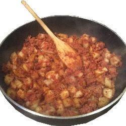 Corned beef hash . . . simple @ allrecipes.co.uk
