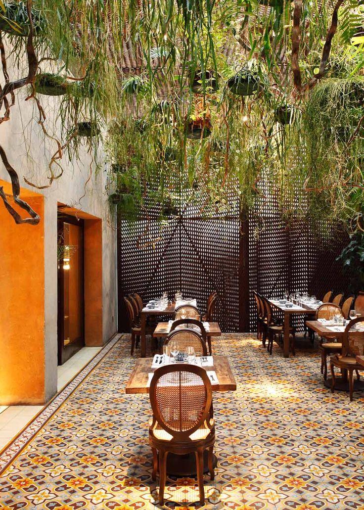 Tile courtyard