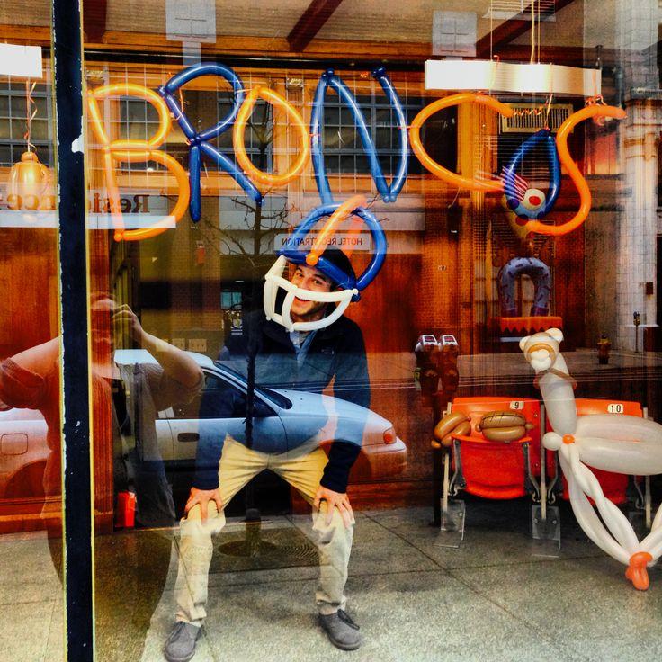 Broncos Super Bowl Balloon Animal Window Display By Denver