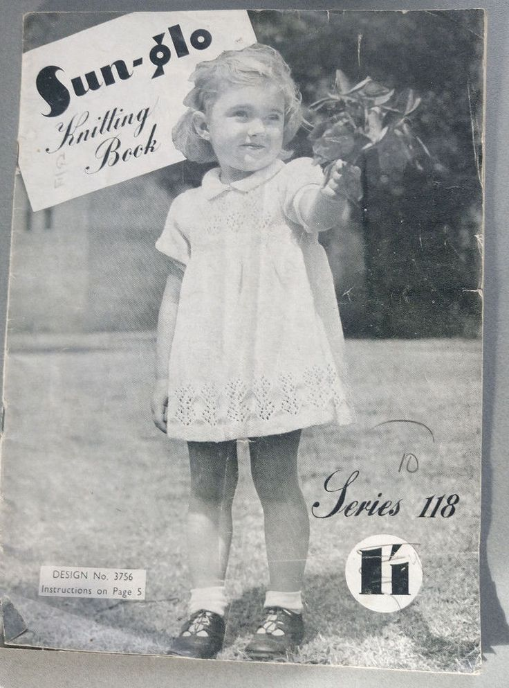 Child's Sun-Glo # 118 vintage knitting book sweater cardigan dress #Sunglo