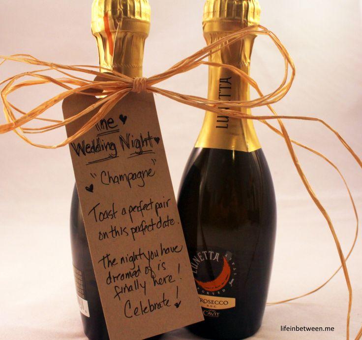 wine bridal shower gift wedding night bottle