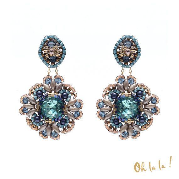 Swarovski Gold Fill Swarovski Crystal Earrings by OhlalaJewelry
