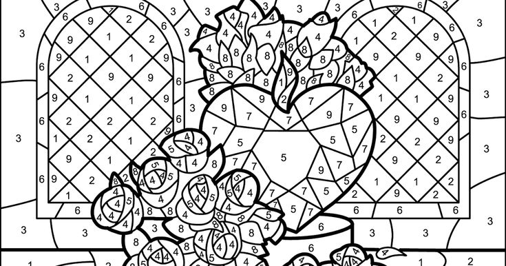 Coloring by numbers pages to color online for free for