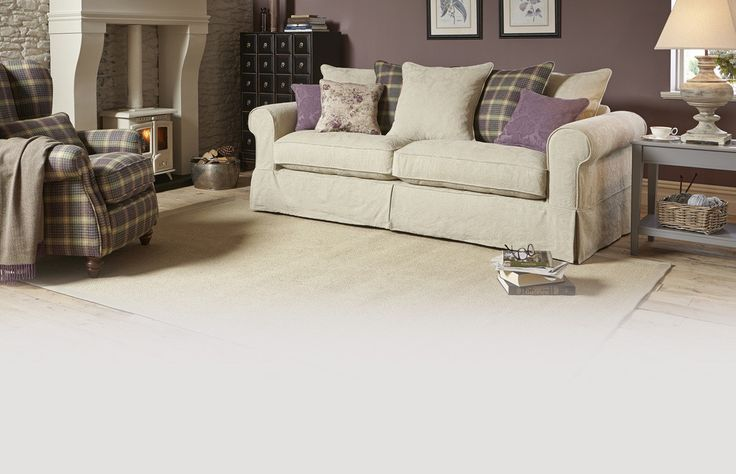 Kendal Pattern and Plaid Pillow Back Grand Sofa Kendal Pattern | DFS