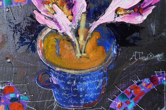 Картины цветов ручной работы. Осенние цветы. Dariya Tumanova. Ярмарка Мастеров. Картина с цветами, полотно