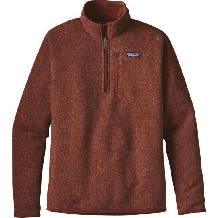 Patagonia Men's Better Sweater 1/4 Zip Fleece Pullover, Size: Medium, Cinder Red