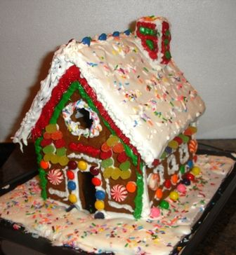 Here's a great website with step by step instructions for making gingerbread houses! And printable templates! I've never done this but I totally am this year :)