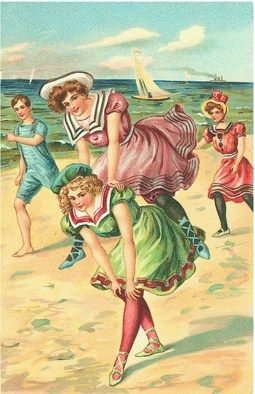 Vintage seaside illustration.