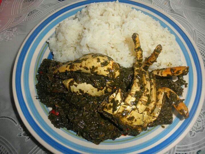 Haitian Food Legume White rice with legume...