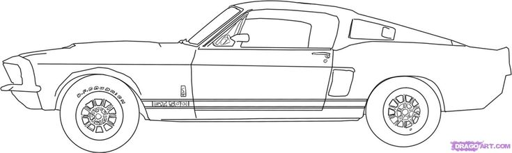 Colorful Pictures Of Muscle Cars How to draw a 67 ford shelby