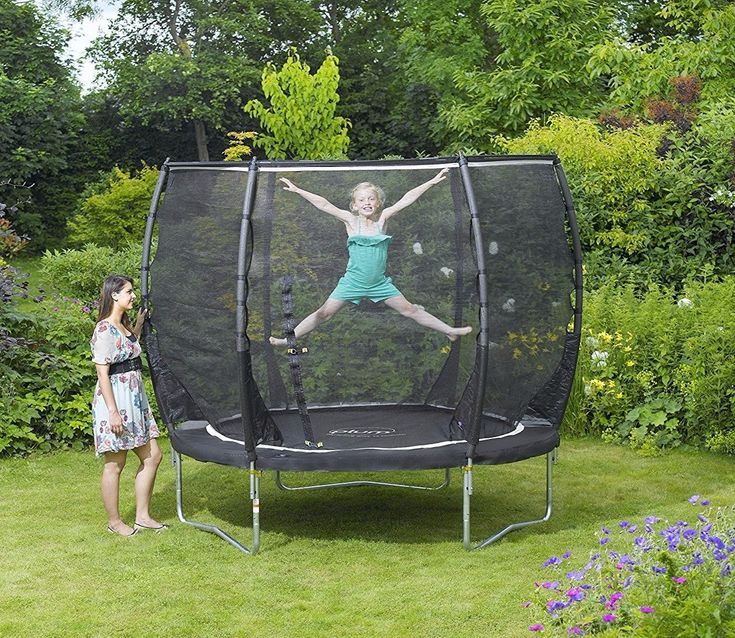 An exceptional way to develop co-ordination, strength and balance, both children and adults will love honing their skills on the Magnitude 8ft Trampoline from Plum Products.