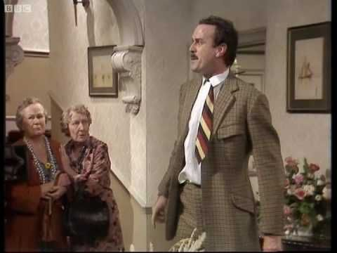 how if feels to work at a hotel lol.... Satisfied Customers - Fawlty Towers - BBC