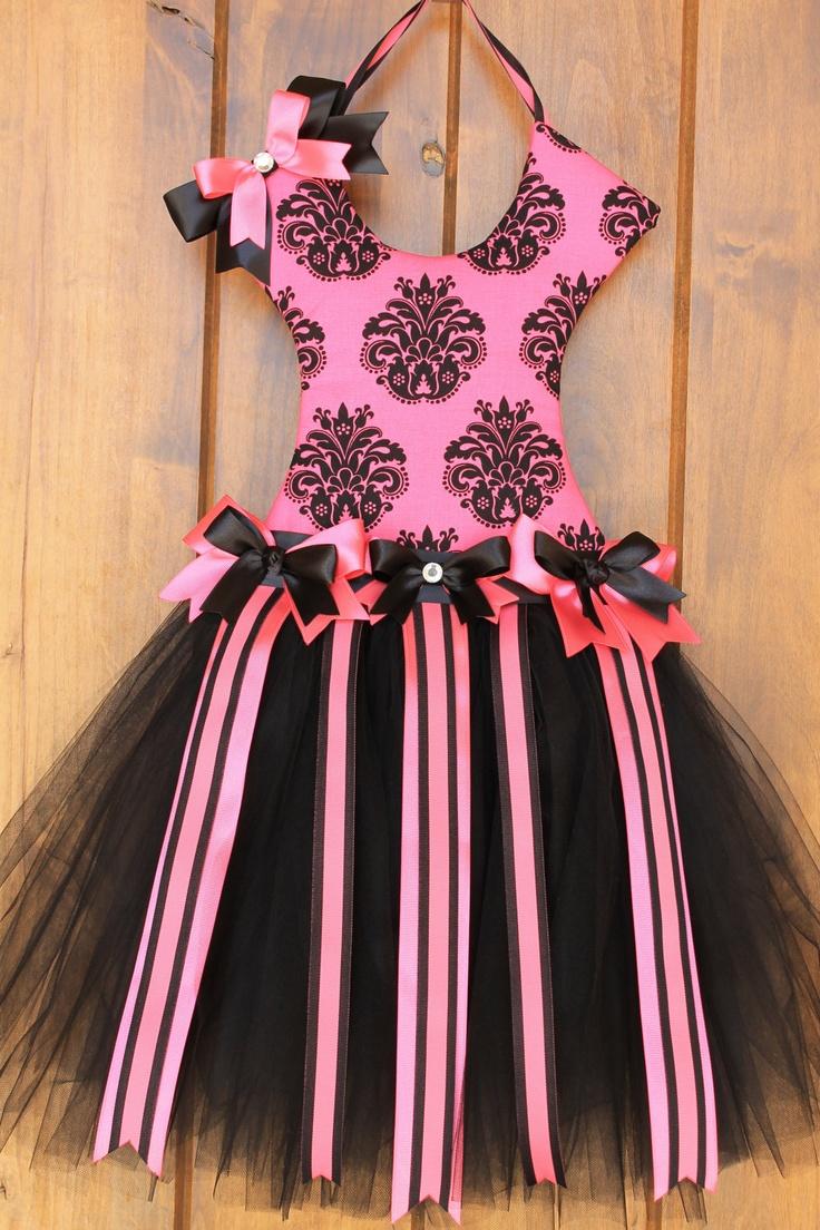 Ballerina Tutu Hair Bow Holder - Pink / Black. $35.00, via Etsy.
