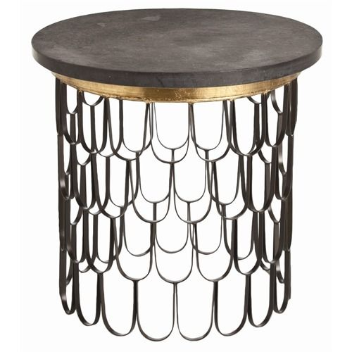 Arteriors Orleans Iron and Marble End Table http://www.shopdfo.com/arteriors-orleans-iron-and-marble-end-table/