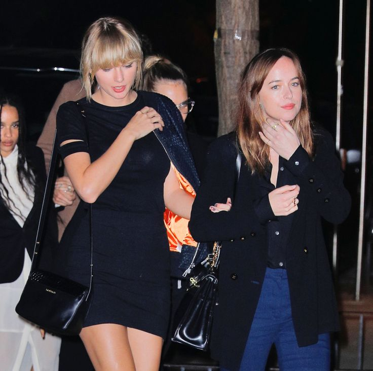 Taylor, Cara Delevingne, and Dakota Johnson out in NYC 10.12.16