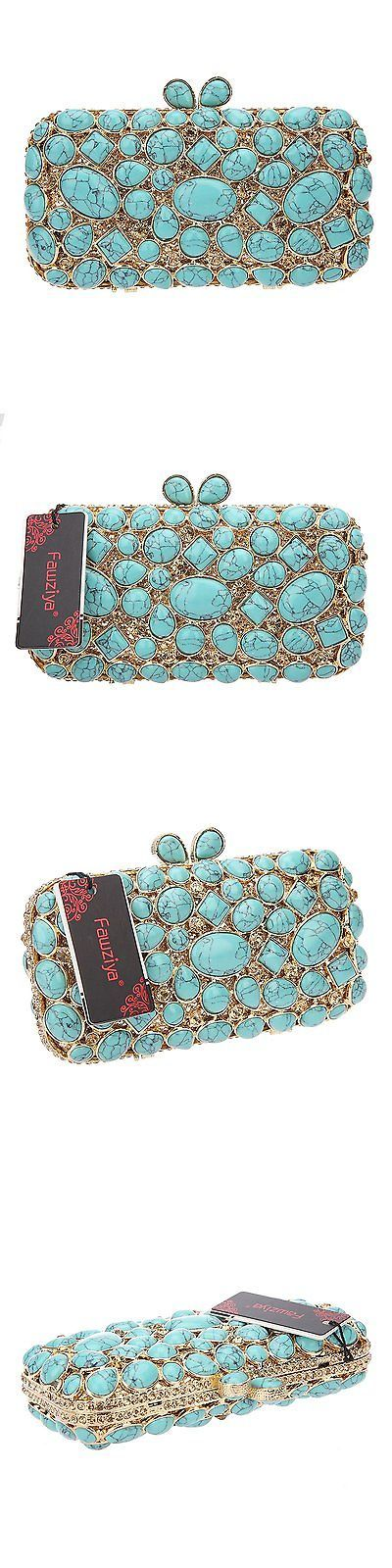 Bridal Handbags And Bags: Fawziya Turquoise Wedding Clutch Bags And Purses For Women Handbags-Turquoise -> BUY IT NOW ONLY: $142.68 on eBay!