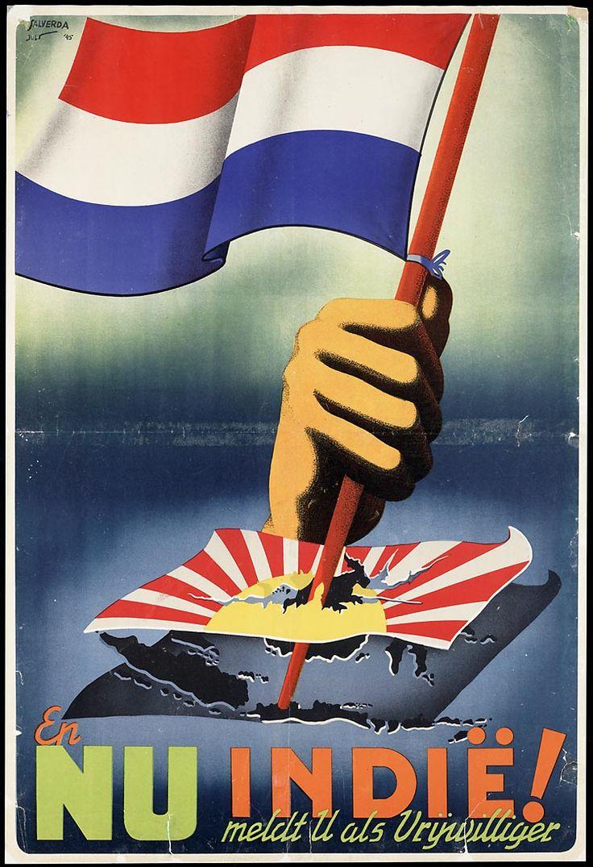 nog een foto, waarmee de Indonesiërs duidelijk wilde maken dat ze niet meer afhankelijk willen zijn van Nederland.