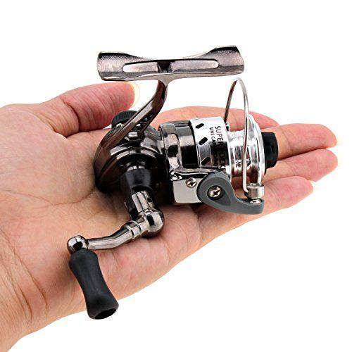 Comprar carrete de spinning Origlam Mini pesca Carretes Spinning Carrete 43: 1gear Metal diseño suave y potente Spinning Carretes de pesca para carpas Bass Trucha pesca de agua dulce salada