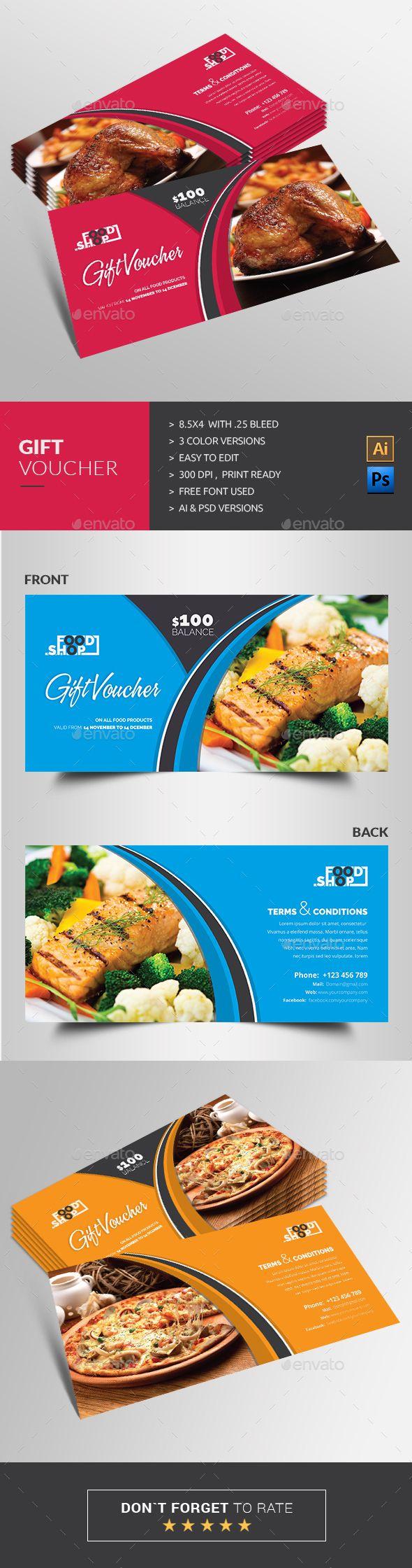 Gift Voucher Template PSD, AI #design Download: http://graphicriver.net/item/gift-voucher/13784561?ref=ksioks