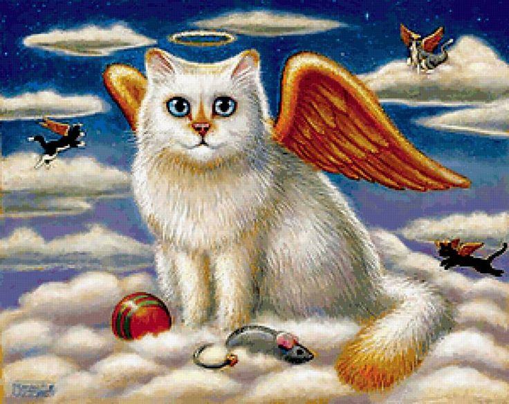 Ангелы и котенок картинки
