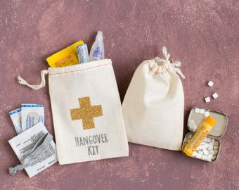 Classy Bachelorette Hangover Kit Bags by becollective on Etsy