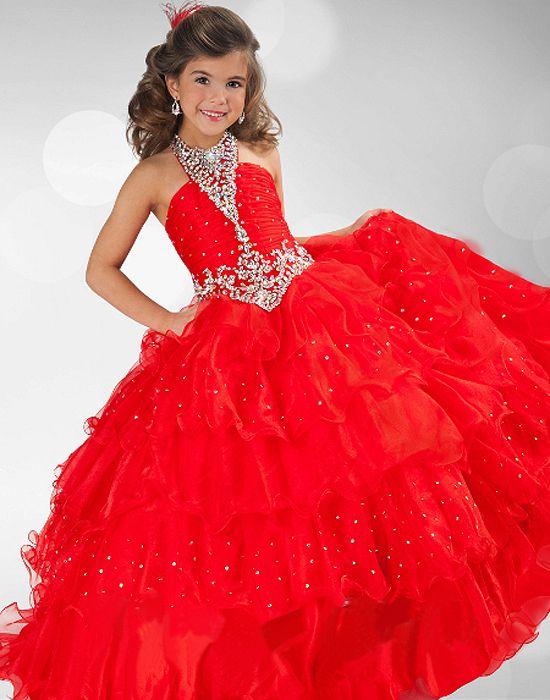 Vestidos de Fiesta para Niñas en Color Rojo