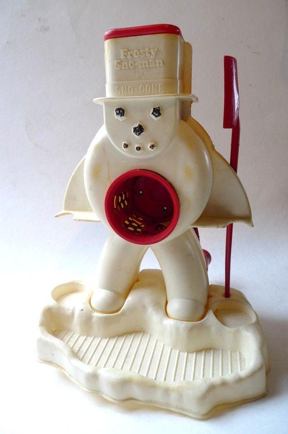 1960s frosty sno man snow cone machine toy 1960s by cozystudio