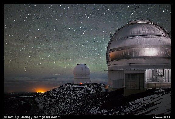 Mauna Kea Summit, Hawaii at night