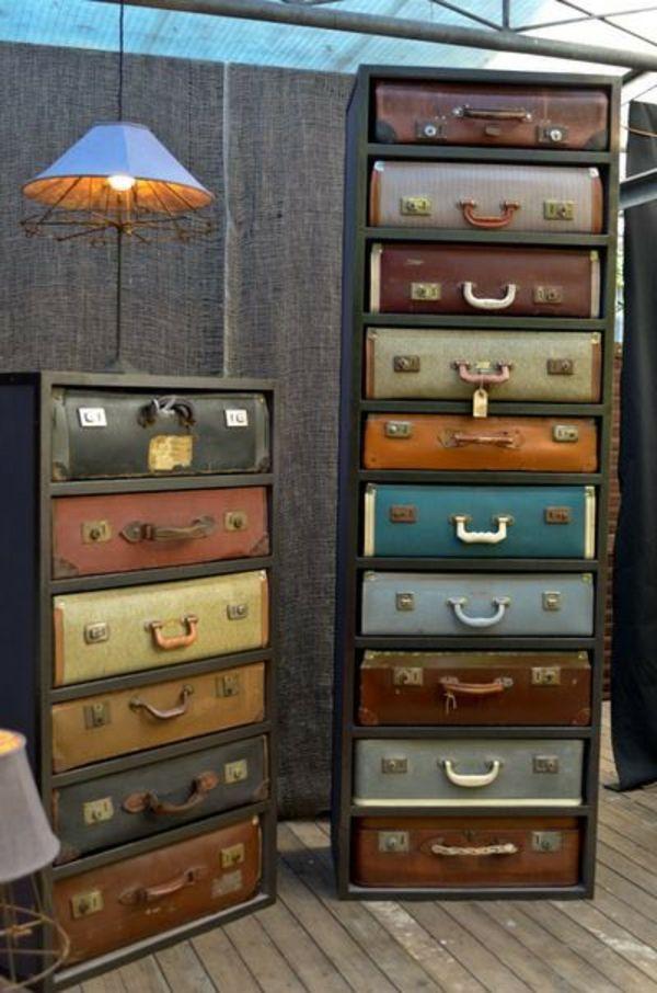m bel mit vintage look selber machen viele koffer fai da te e hobby pinterest koffer. Black Bedroom Furniture Sets. Home Design Ideas